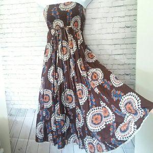 SISTER flowy strapless maxi dress